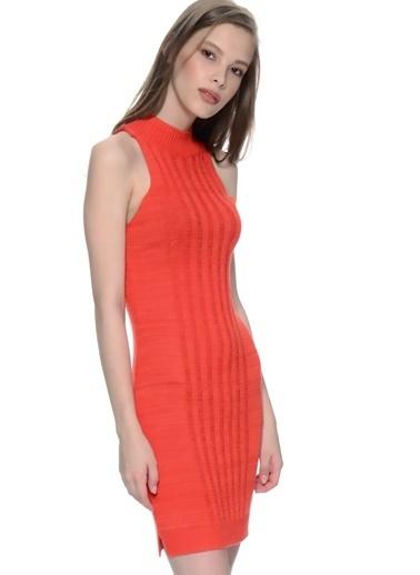 Mink Pink Kolsuz Dar Mini Elbise Oranj